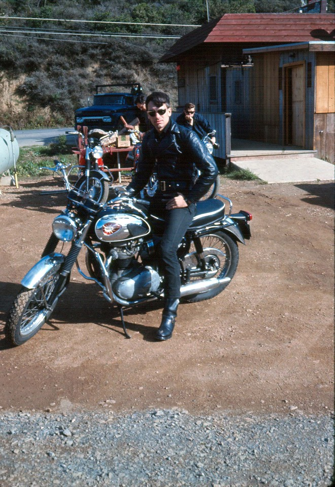 BSA & me in black. 1967