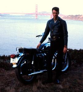 Posing by the Golden Gate Bridge, 1967