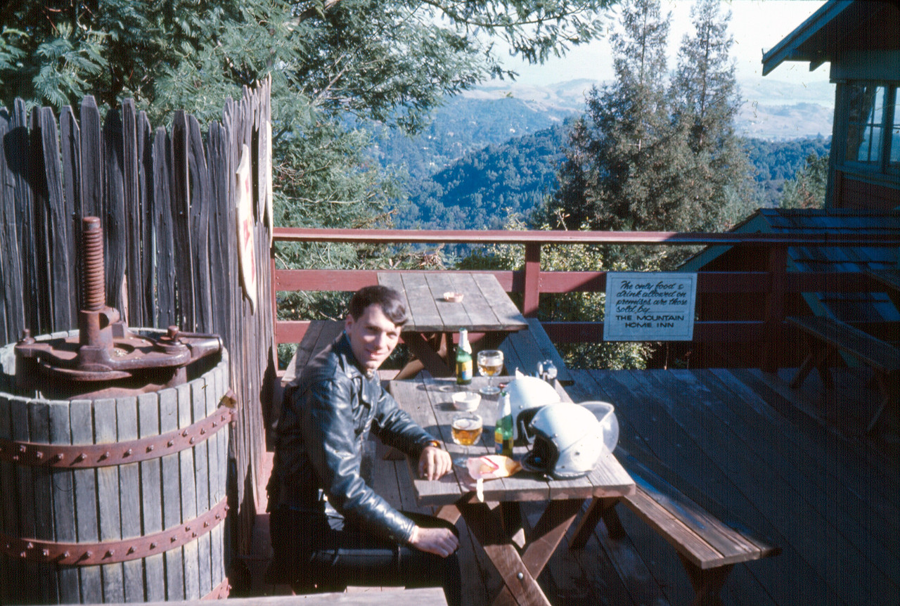 At the beer garden Mount Tam, 1967