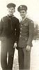 On Leave: Ben and Leroy ??, Rock Island 1/4/45.  Note the fine winter sailor cap.