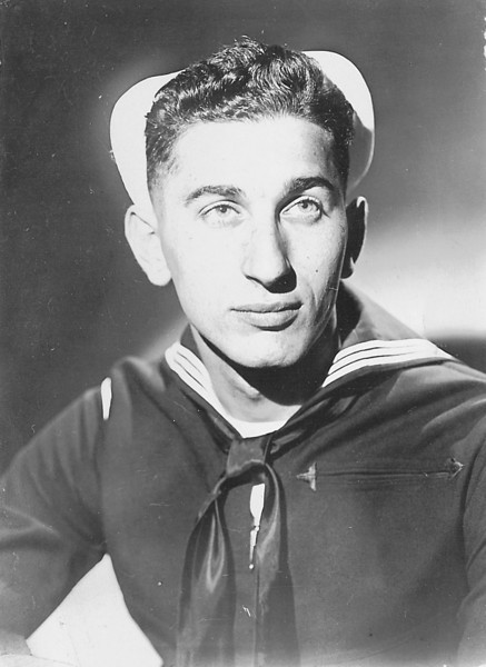 Portrait taken at the Great Lakes Naval Training Station, 1944.