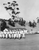 Naval Radio School - LA, April 1945 (Dad is the right guide for the line of fine-stepping sailors.  They probably wanted to utilize his marching band experience to the fullest.)