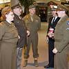 WWII Reenactors in period uniforms. Nice touch!
