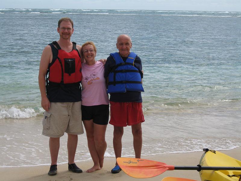 On Kaaawa beach pre Kayaking