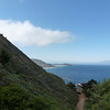 View from the house.  That's Point Sur, with its lighthouse.