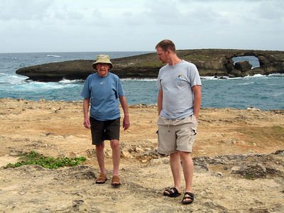 Dad and Allen at Laie point