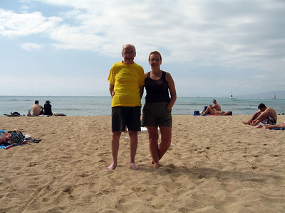 Dad and Lynne on Waikiki beach