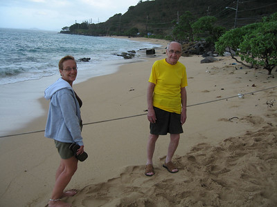 Going to see the monk seal on Kaaawa beach
