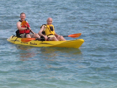 Dads first kayak experience