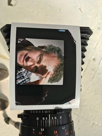 Daisy and Dad Polaroid