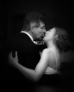 146 Dan & Janice Wedding - Dan & Janice (8x10) bokeh softfocus b&w