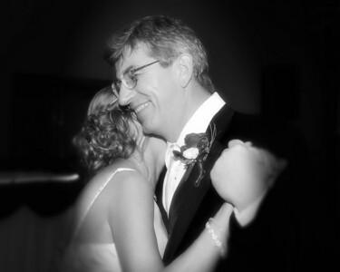 143 Dan & Janice Wedding - Dan & Janice (10x8) bokeh softfocus b&w
