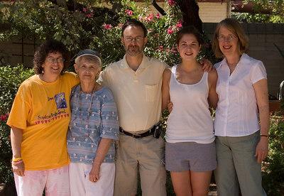 Carol, Lillian, Me, Rachel, Barbara at Sam Hughes Inn where we stayed.