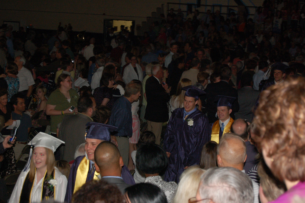 All 370 graduates - marching in