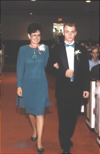 Amy and Matt's wedding.  Craig walking Mom down the aisle.