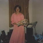 vickie in easter gown
