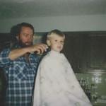 dad trimming doug 1981
