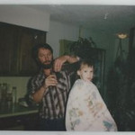 Dad trimming amy 1981