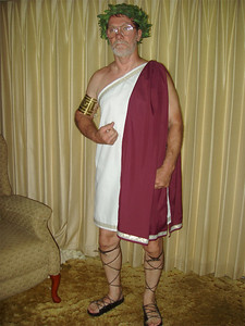 Costume for a  Roman Toga Party