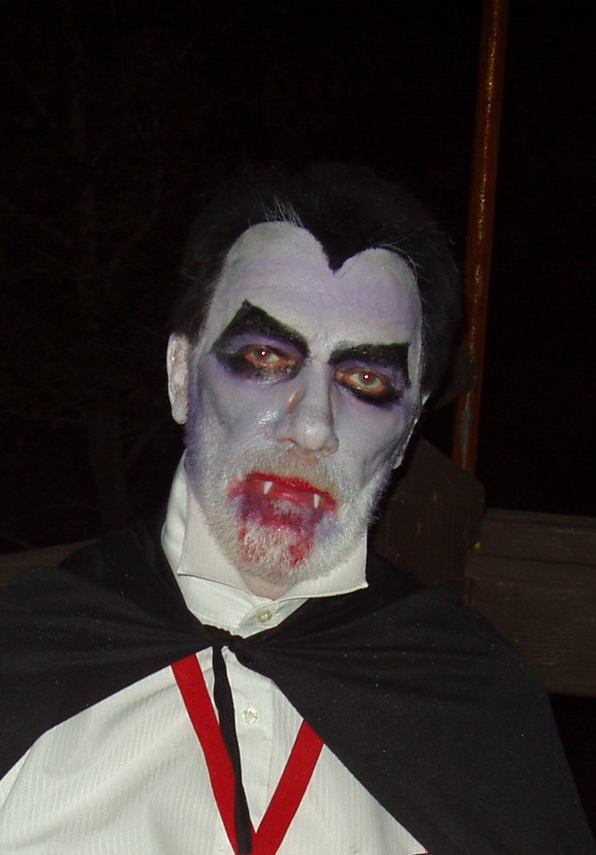 Count Dracula make-up by Vickie