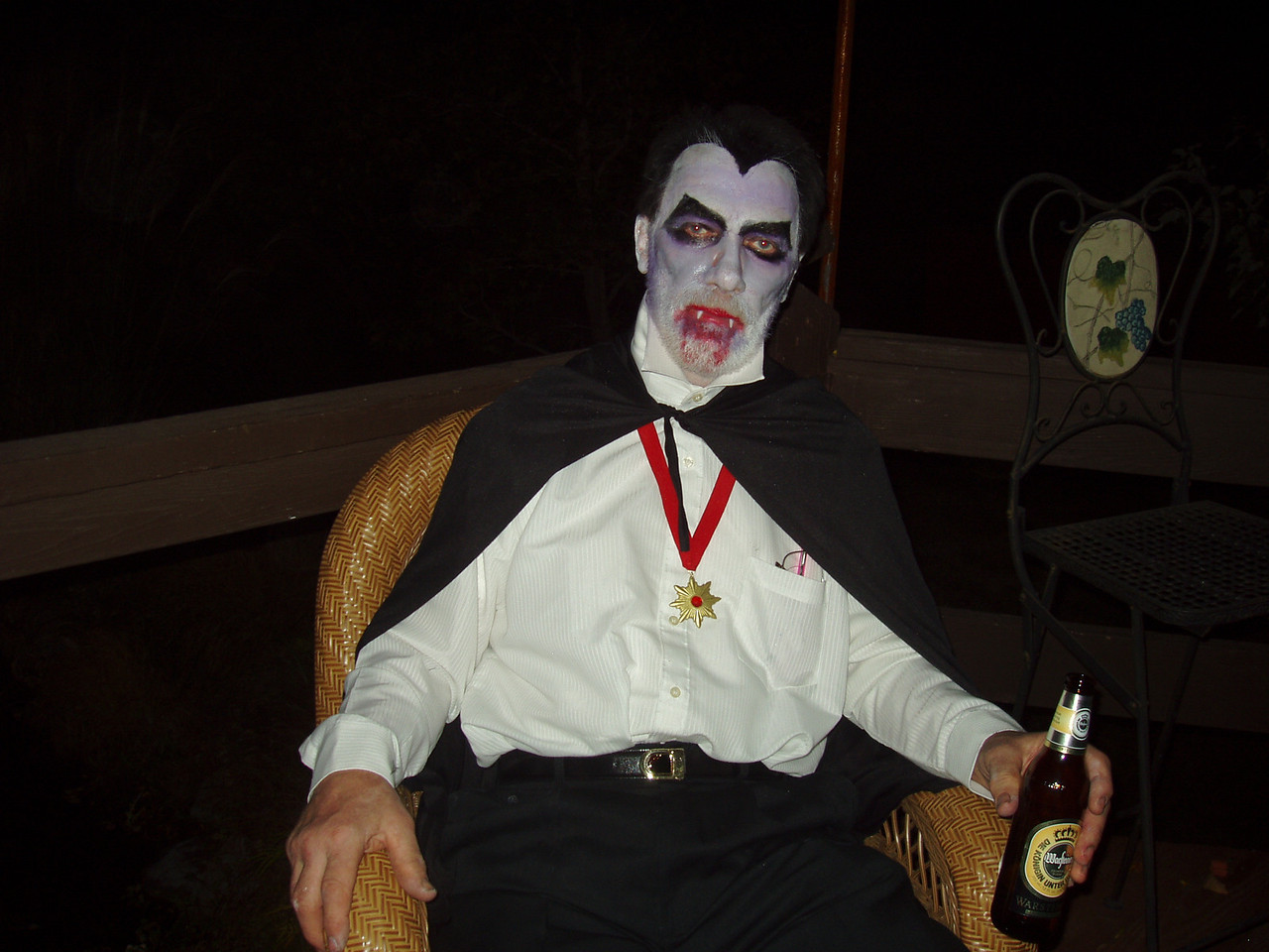 Count Dracula at a Halloween Party