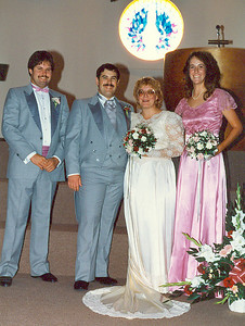 Lenny (Best Man), Daryl (Groom), Rose (Bride), Jenny (Maid of Honor)