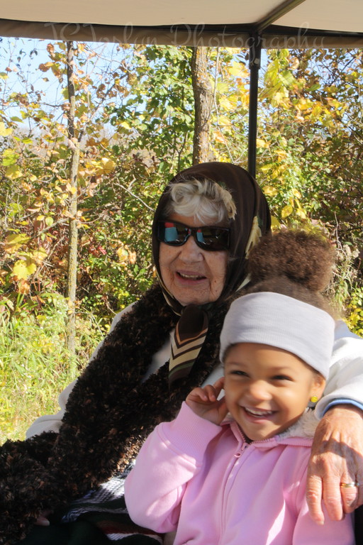 10-10 GGma Lois Prior Joslyn and Rylee, at Elm Creek Park observing the Fall Colors.