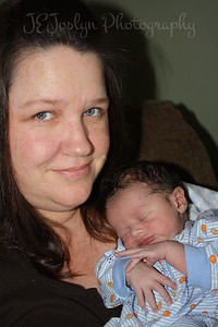 RJ and Mom - with him at 1 week old, born May 9, 2009.