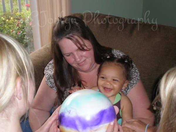 GD4's 1st birthday, with Mom, august 19, 2008.