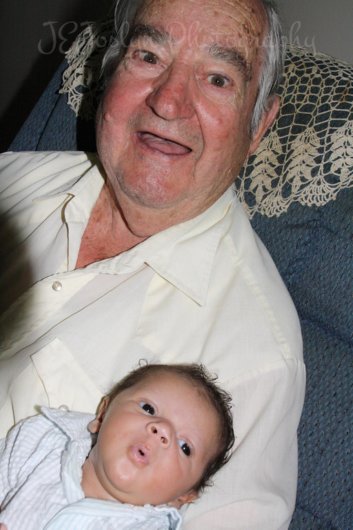 Dad and Great Grandchildren Rylee and RJ (6 weeks old)  (numbers 13 and 15 of 15) - 6-21-09