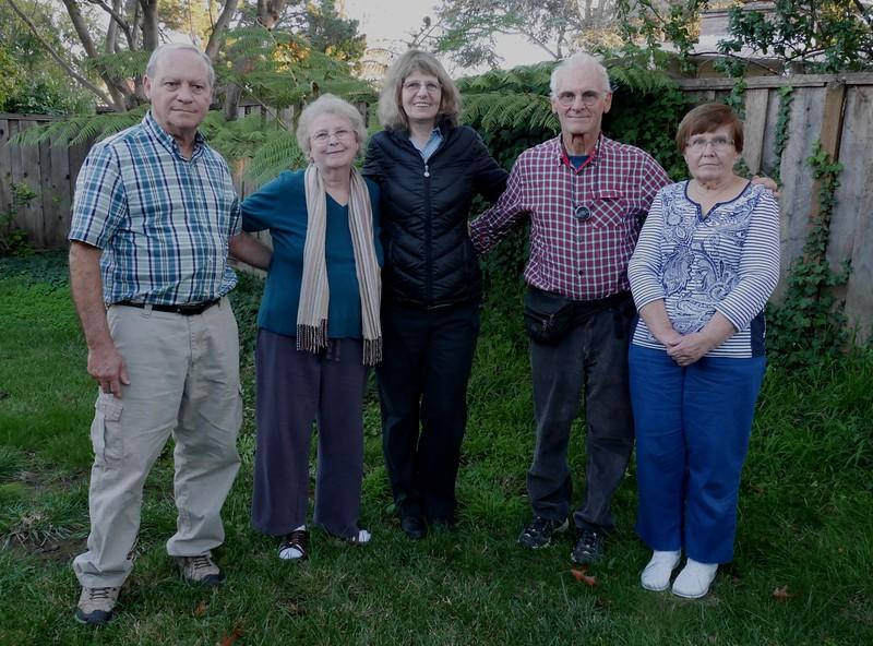 Dave, Kathy, Rena, Rich, and Fran at Marla's house.