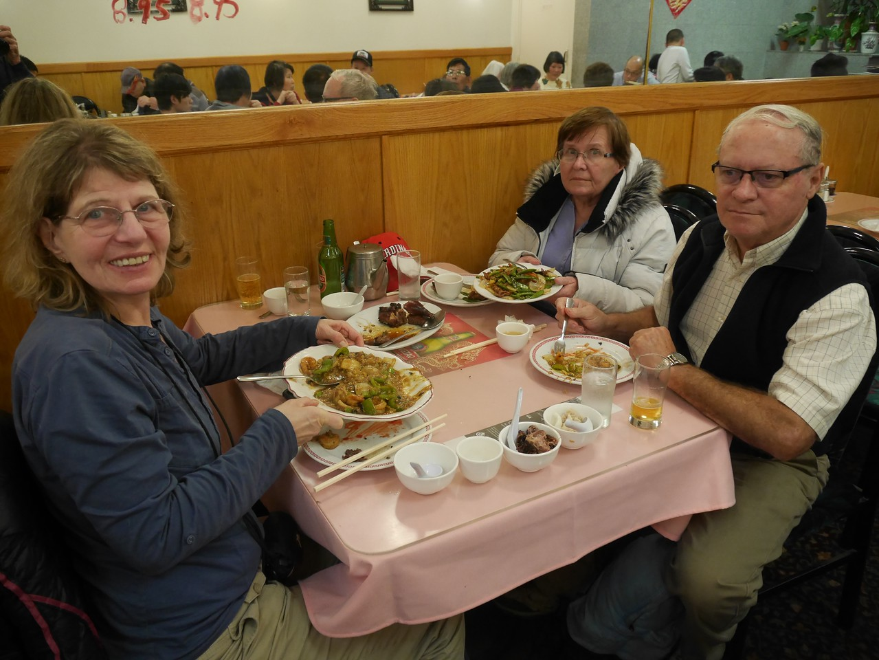 Dinner at the Chung King  in Chinatown. A real Chinese restaurant.