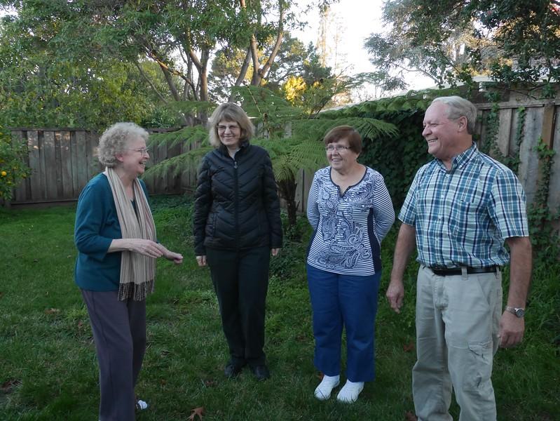 Kathy, Rena,  Fran, and Dave at Marla's house.
