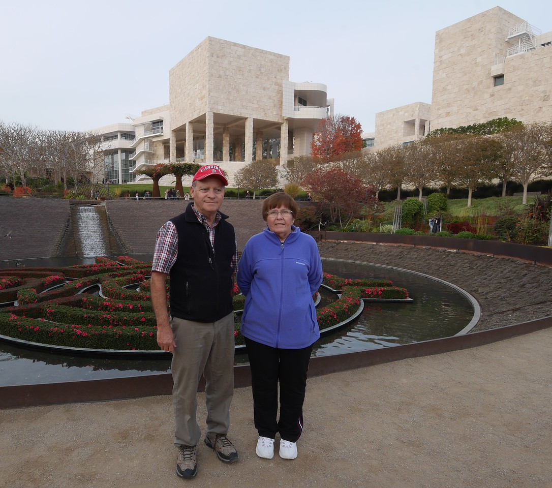 The gardens at the Getty Museum.