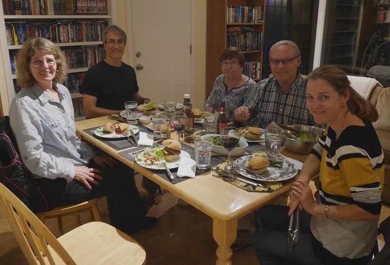 Dinner at Marla's house.