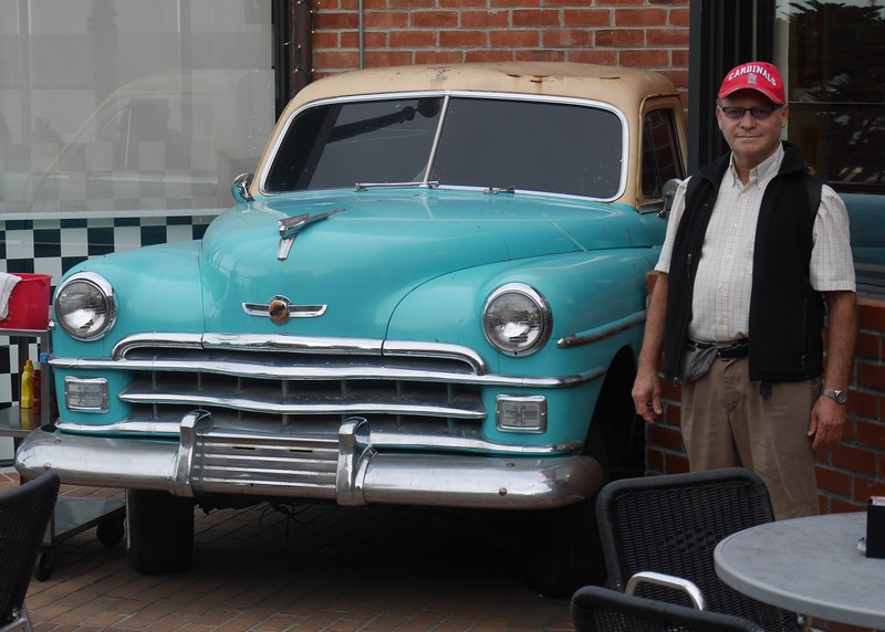 Dave found a car he liked at Fisherman's Wharf.