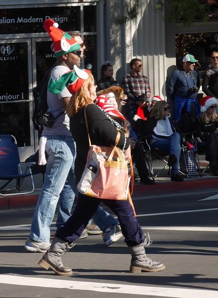 Andi marching in Los Gatos parade.