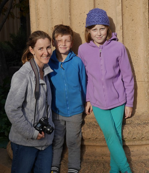 Marla, Alex, and Sophie at Palace of Fine Arts .