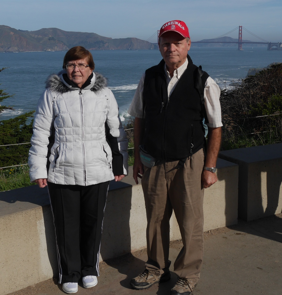 Dave and Fran on Land's End hike in SF.