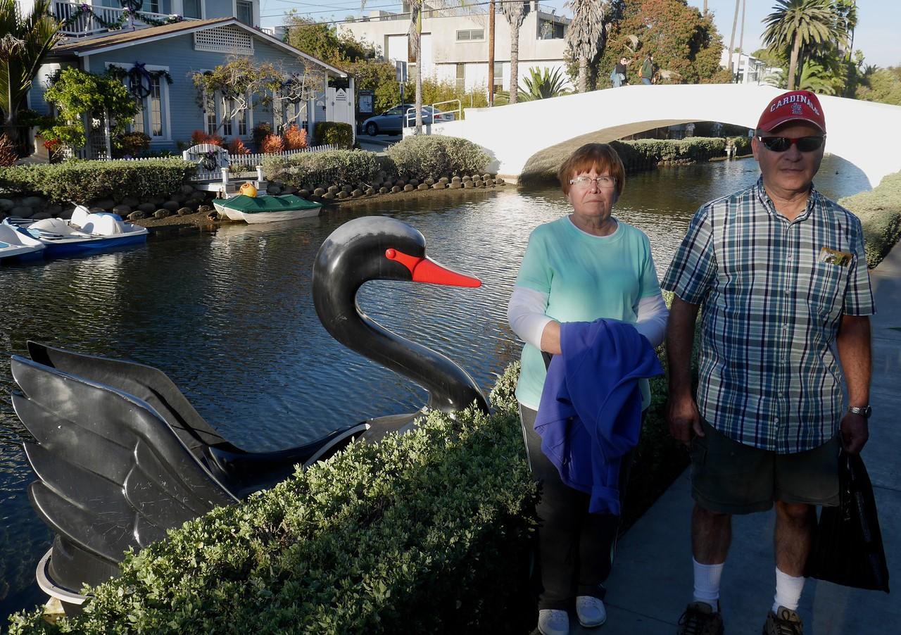 The Venice Beach canals.