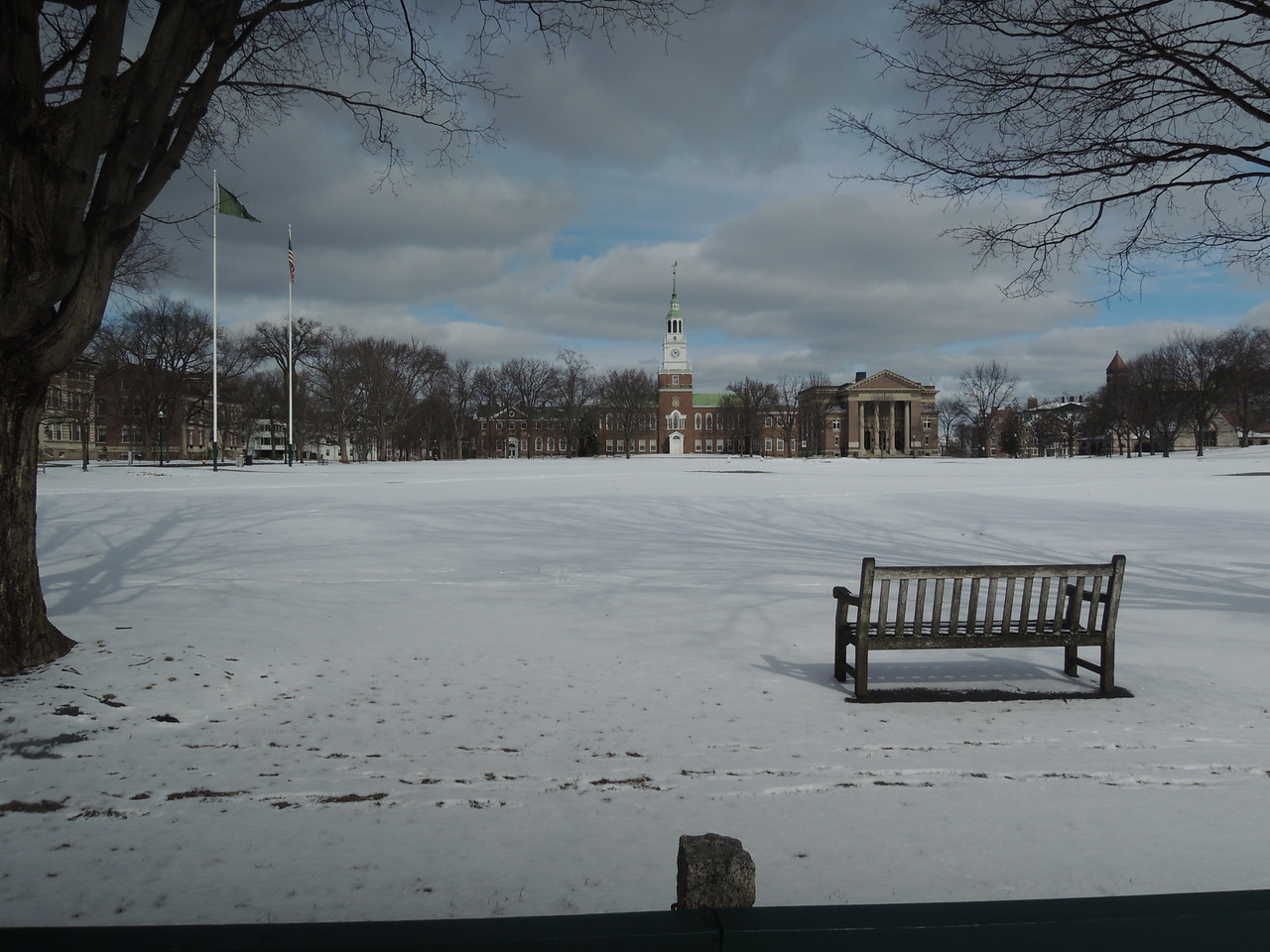 The square at Hanover, looking toward Dartmouth College.