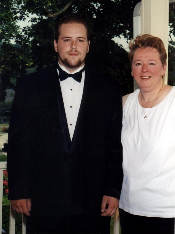 This is was taken when David was not quite eighteen and a half in May of 2000, he was on his way to a prom. this was little over a year before Paranoid Schizophrenia manifested itself. Here is some information on the disease:  http://www.psychiatry24x7.com/bgdisplay.jhtml;jsessionid=FP0UFZAUF240YCUCERDBXCQ?itemname=nonprofbackschiz010