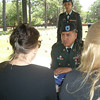 Offering the flag to Betty.  This soldier is a full-blooded Indian.