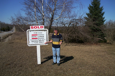 Sold sign on Ferguson farm - 10th Line of Innisfil