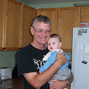 Grandad holding Evan