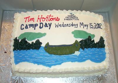Cake that Dave won at Tim Horton's