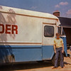 July 1971 - Dave standing in front of his father's bread truck, at the family farm house