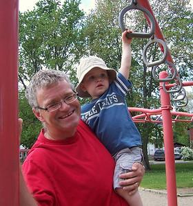 At Shear Park with Evan - Summer 2010