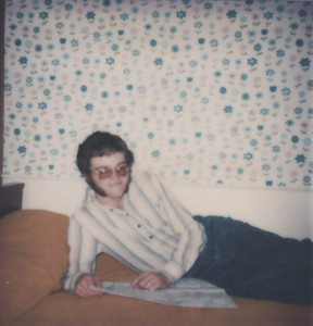Our very first vacation together - October 1976 - Dave relaxing at the Pop-Lar Motel in Rochester, NY.
