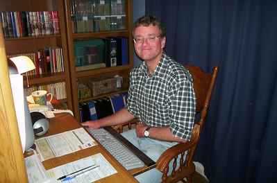 Dave at his computer - 2002